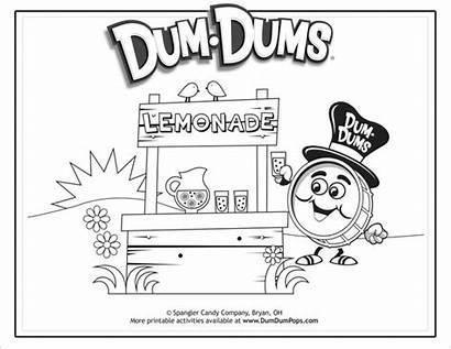 Coloring Summer Lemonade Stand Dum Dums Drum