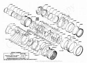Olympus 100mm F2 8 Exploded Parts Diagram Service Manual