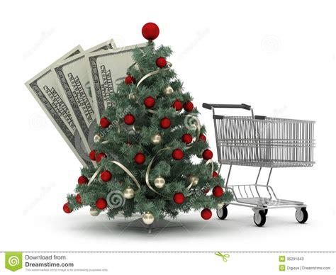 shopping cart christmas tree christmas tree shopping cart and dollar bills stock 1406