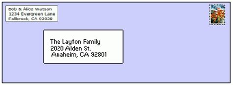 how to address an envelope to a family creating and mailing a family newsletter