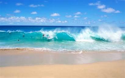Waves Ocean Beach Fun Backgrounds Wallpapers Playful