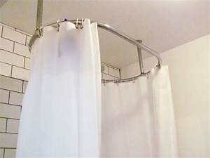 Shower curtain rod 4 good oval shower curtain rod for Bathroom curtain poles