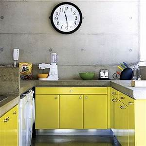 27 yellow kitchen decor ideas to raise your mood digsdigs With kitchen cabinets lowes with yellow wall art decor