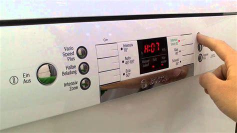 Reset Bosch Geschirrspüler by Bosch Geschirrsp 252 Ler Wasserh 228 Rte Einstellung