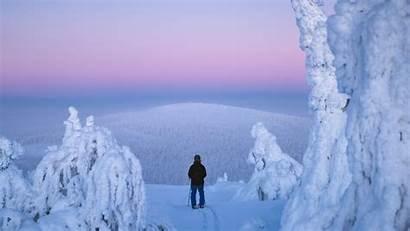 Salla Lapland Night Ski Finland Winter Finnish