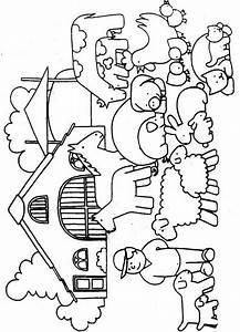 Theme Farm Animals Coloring Pages Juf Milou