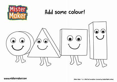 Maker Mister Colouring Coloring Shapes Books