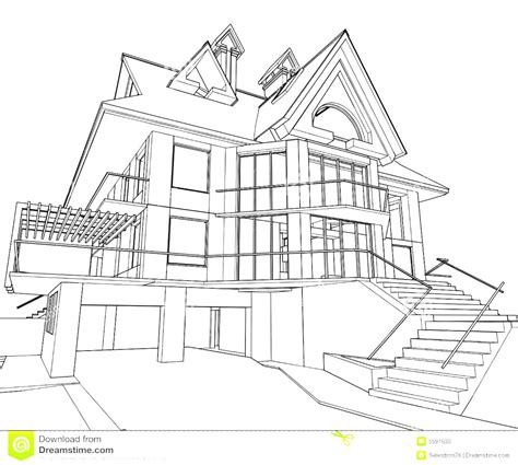 modern house sketch  paintingvalleycom explore