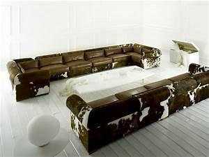 13 modeles canape d39angle de design elegant With tapis peau de vache avec grand canaper d angle