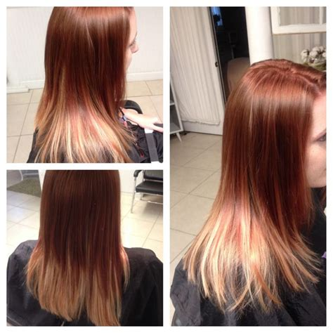 Shiny Hair Color by Shiny Coppery Brown Hair With A Ombr 233 Rusk Color