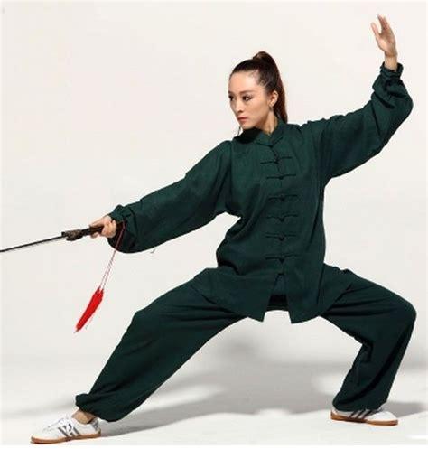 dark green hemp and linen wudang tai chi uniform with