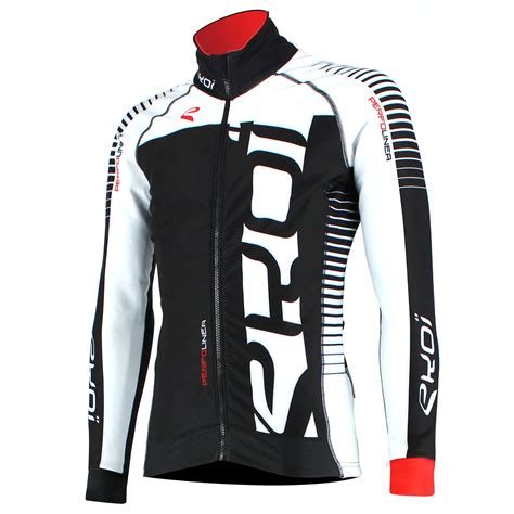 black cycling jacket ekoi perfolinea black white thermal cycling jacket ekoi