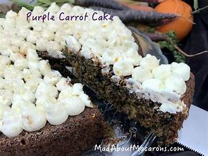 Purple Carrot Cake - Mad about Macarons
