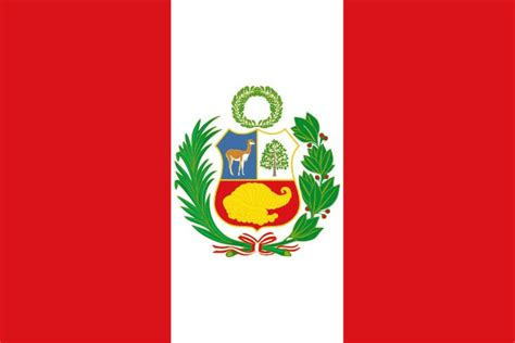 the flag of peru is a vertical tri band with outer bands and a single white middle band