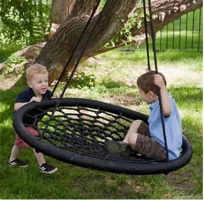 Outdoor Swing Person Tree Diameter Fun Giant