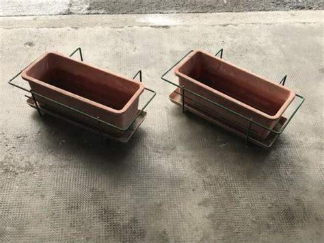 portavasi da ringhiera portavasi in ferro da esterno vasi grezzana posot class