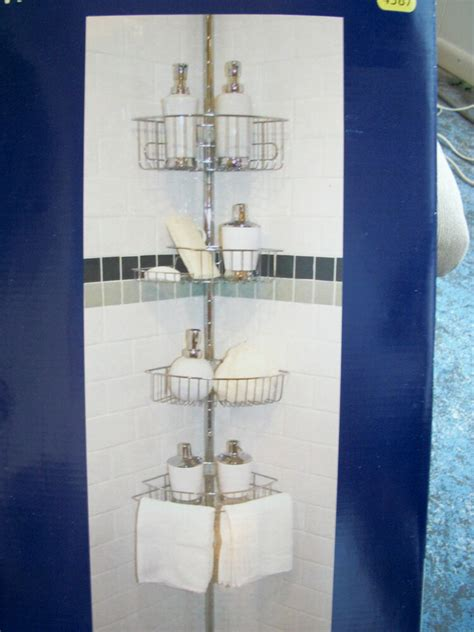 rust resistant shower caddy vanderwall shower caddy with tension pole chrome finish
