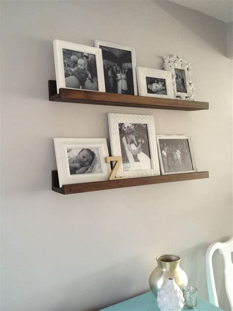 mount shelf to wall furniture traditional room interior design with rustic