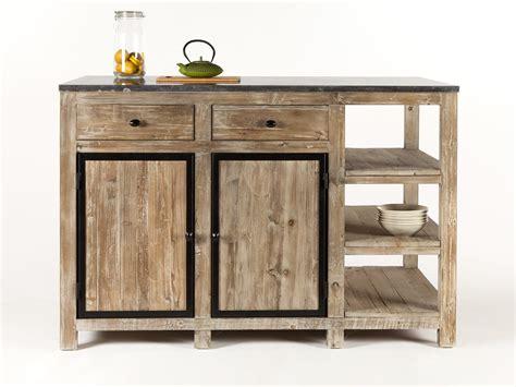 ilot desserte cuisine cheap ilot central de cuisine en bois et marbre longueur