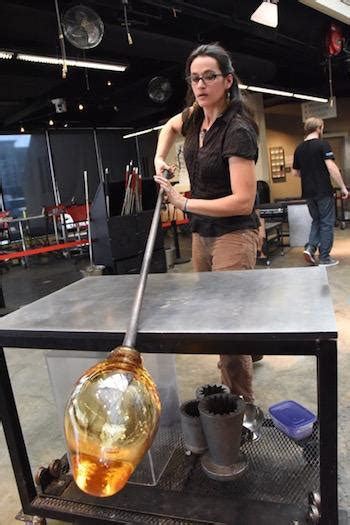 craft show blow  glass blowing demonstrations show