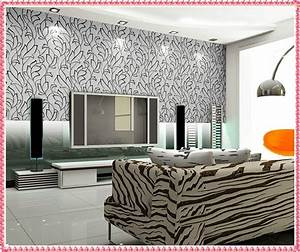 Modern living room wallpaper house