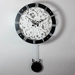 Wanduhr Mit Pendel : 15 h modern style metall wanduhr mit pendel usd ~ Watch28wear.com Haus und Dekorationen