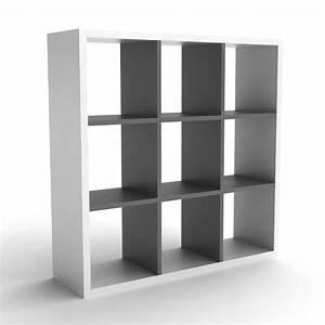 Bibliothèque 4 Cases : etagere bibliotheque en bois 9 cases l102xp30xh102cm simply ~ Teatrodelosmanantiales.com Idées de Décoration