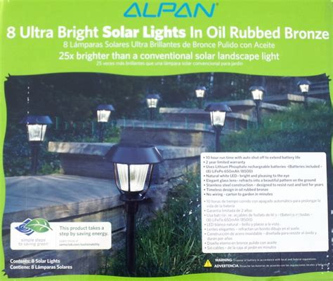 new alpan 8 ultra bright led solar path lights in