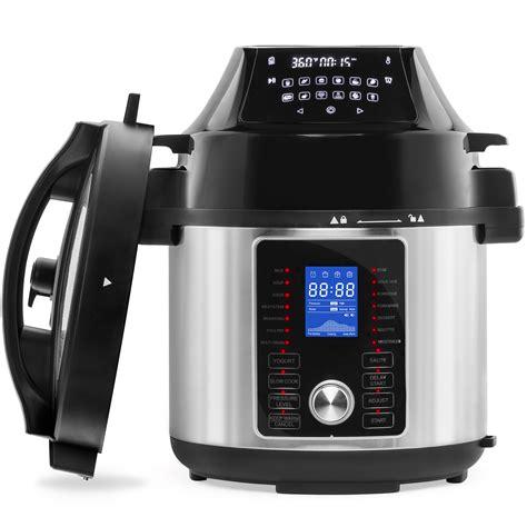 fryer cooker pressure air combo lid choice recipes steamer multicooker crisper 3qt bcp walmart presets lcd screen silver