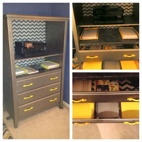 Upcycled Tv Armoire by Office Organizing Upcycled Armoire To Printer And Supply