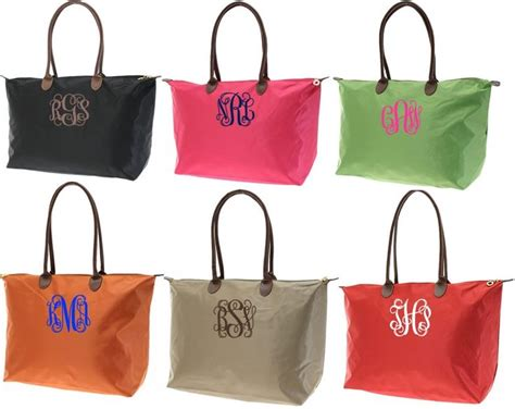 monogrammed nylon tote featured  babyboxcom