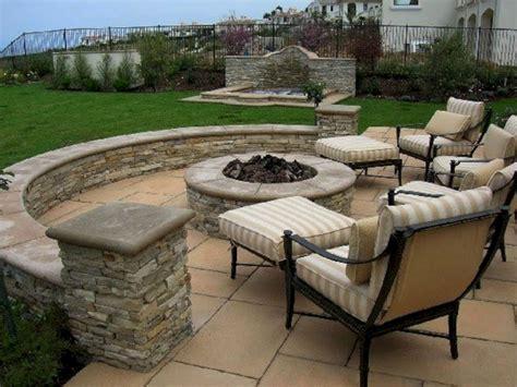Backyard Stone Patio Design Ideas (backyard Stone Patio