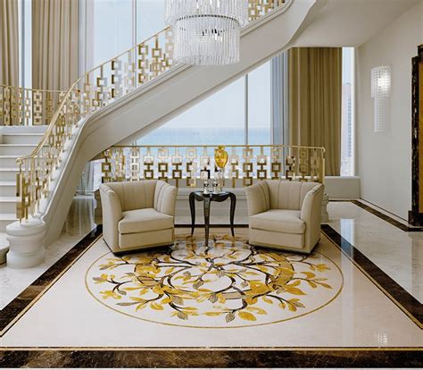 Classic Italian Interiors by Classic Interiors Luxury Budri Italian Marble Inlay