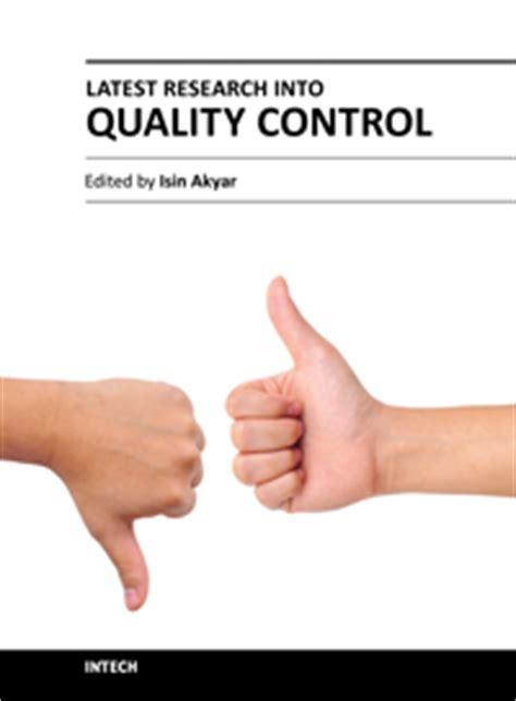 Quality Control Definiton  Latest Research Intechopen