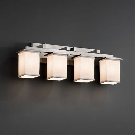 bathroom lighting fixtures justice design fab 8674 montana textile 4 light bathroom
