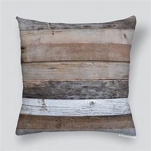 Planche De Bois Vieilli : housse de coussin planches de bois vieilli ~ Mglfilm.com Idées de Décoration