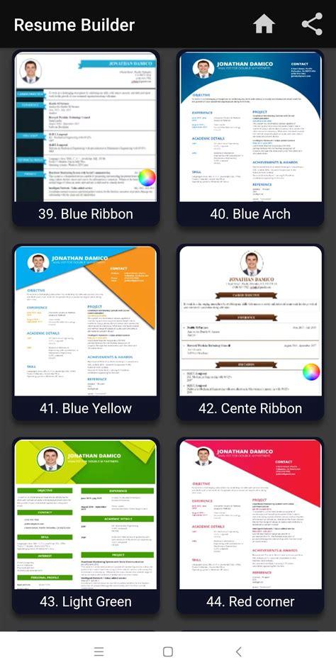 resume builder  cv maker templates formats app