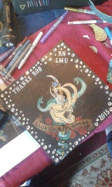 loki grad cap  graduation cap school scrapbook grad cap