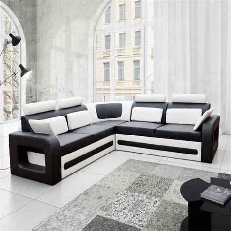 canapé avec méridienne convertible canapé angle noir et blanc convertible en pu de très bonne