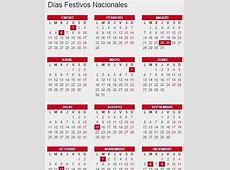 Calendario laboral de 2016 dias festivos, puentes y