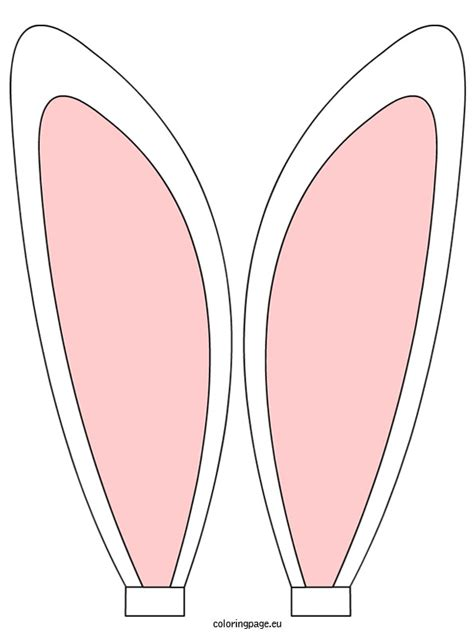 easter bunny ear clipart   cliparts