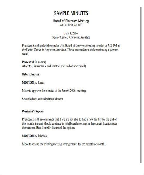annual board of directors meeting minutes template board of directors meeting minutes template nonprofit templates resume exles rvarnlqawx