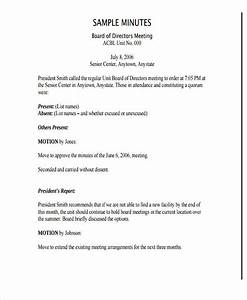 board meeting minutes template nonprofit templates With board minute template