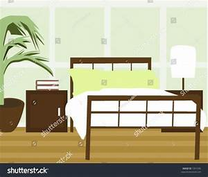 Bedroom Background Vector Stock Vector 1391536 - Shutterstock