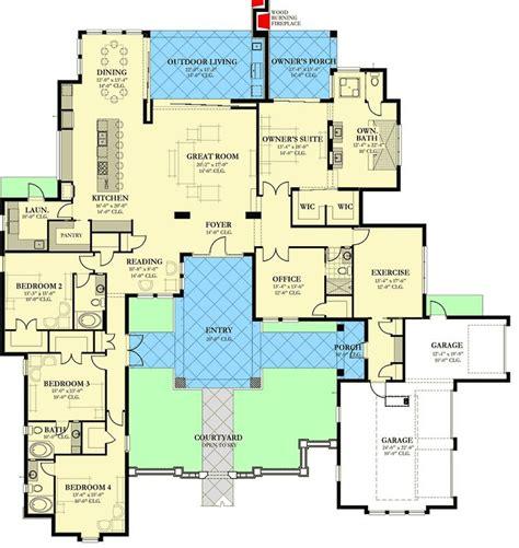 plan ka southern house plan  private front