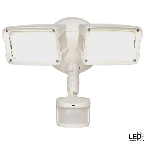 defiant led security light defiant 180 degree white motion activated sensor outdoor