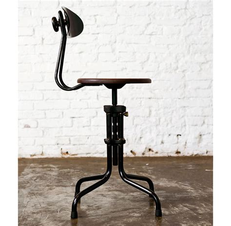 desk stool with back brexton adjustable height cast iron industrial desk dining