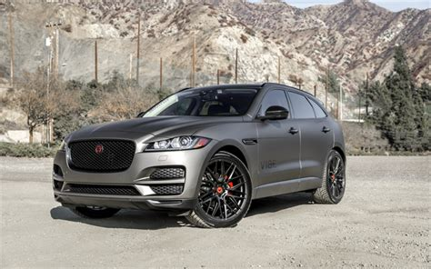wallpapers jaguar  pace  luxury suv gray