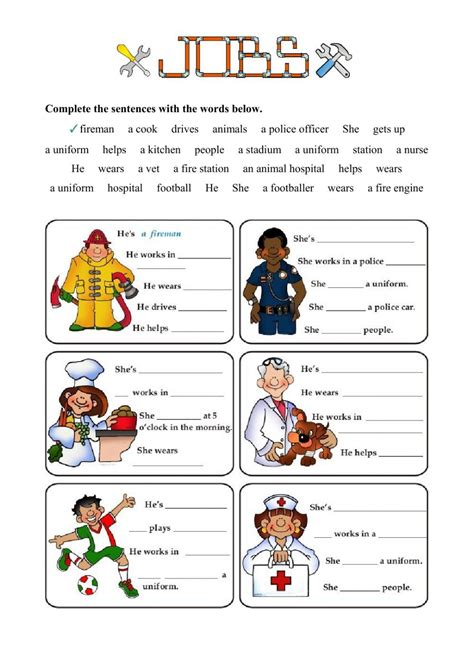Jobs And Occupations Interactive And Downloadable Worksheet You Can Do The Exercises Online Or