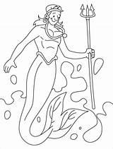 Merman Coloring Pages Mermaid Print Homey Printable Popular Getdrawings Getcolorings sketch template